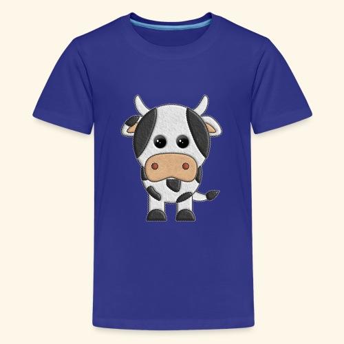 vaquita de peluche vaca cow - Camiseta premium adolescente