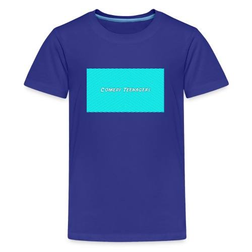 Light Blue Comedy Teenagers T Shirt - Premium-T-shirt tonåring