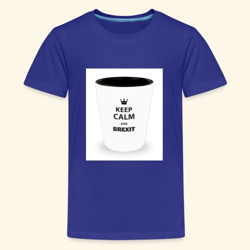 Shot Glass with inscriptions Keep Calm & Brexit - Teenage Premium T-Shirt
