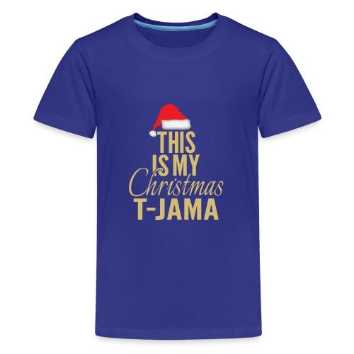 This is my christmas t jama gold 01 - Premium T-skjorte for tenåringer