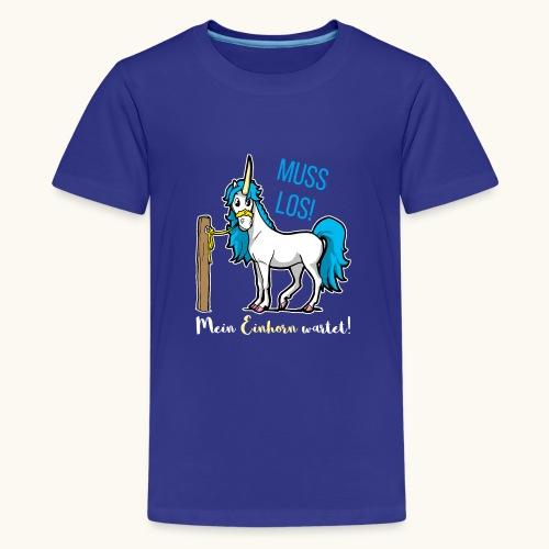 Dessin drôle de licorne disant bande dessinée cadeau - T-shirt Premium Ado