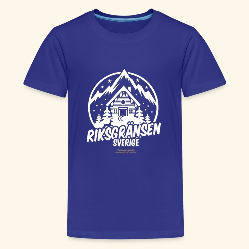 Riksgränsen Sverige Ski Resort T Shirt Design - Teenager Premium T-Shirt