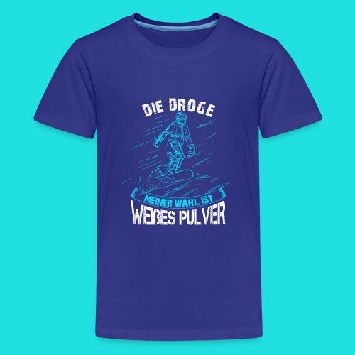 Droge snowboarden - Teenager Premium T-Shirt