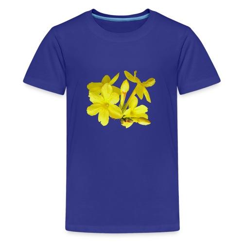 Winterjasmin Jasmin gelb Duft Zierpflanze Strauch - Teenager Premium T-Shirt