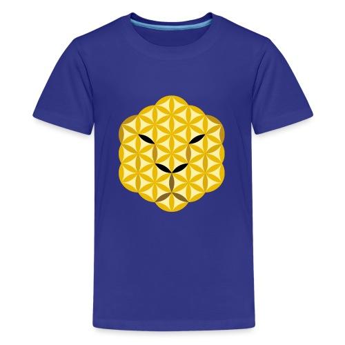 The Jaguar Face of life - Sacred Animals, Face 01 - Teenage Premium T-Shirt