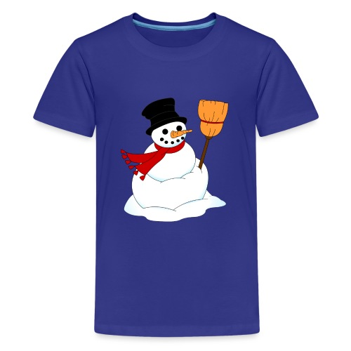 Snemand m. kost - Teenager premium T-shirt