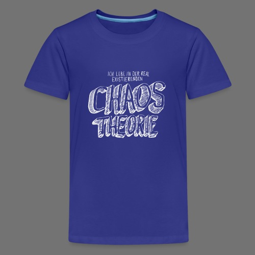 Chaos Theory (valkoinen) - Teinien premium t-paita