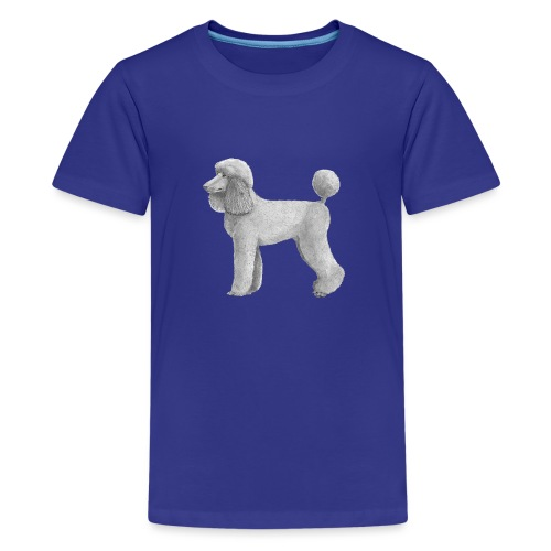 poodle standard abricot ink - Teenager premium T-shirt