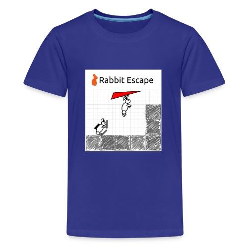 Rabbit Escape Hang-glider T-shirt - Teenage Premium T-Shirt