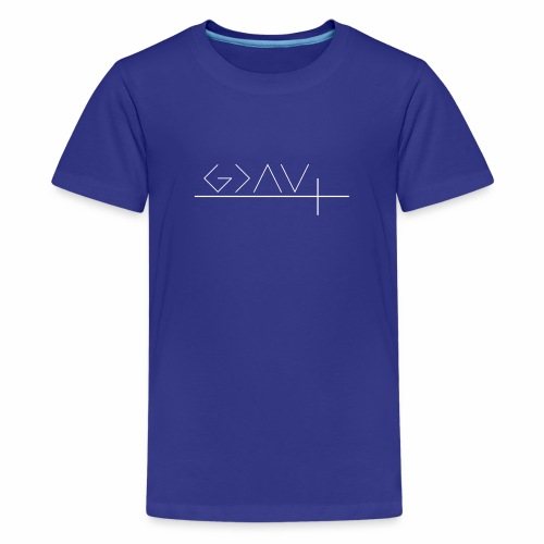 god is greater weiß - Teenager Premium T-Shirt