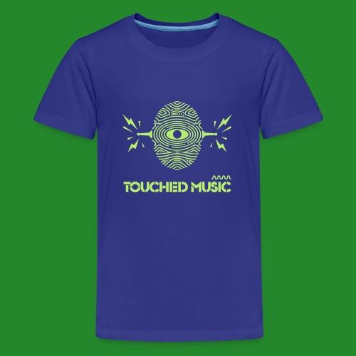 Touched Logo Orange and Navy - Teenage Premium T-Shirt