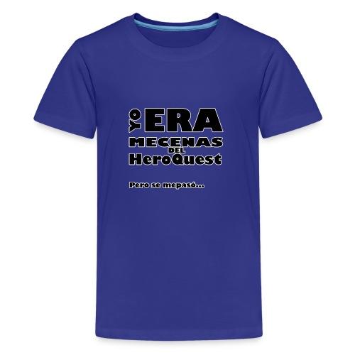 Camiseta manga larga Yo era mecenas del HQ Gris - Camiseta premium adolescente
