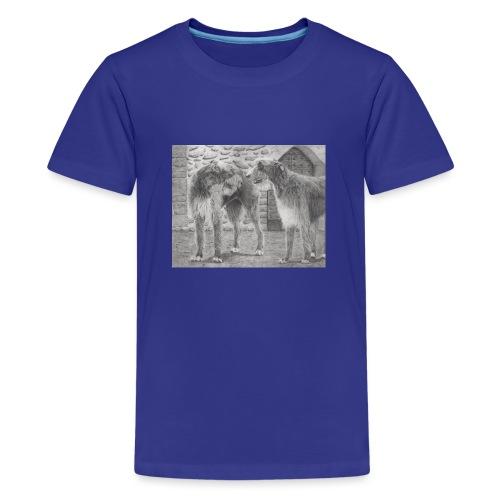 Irish Wolf hound - Teenager premium T-shirt