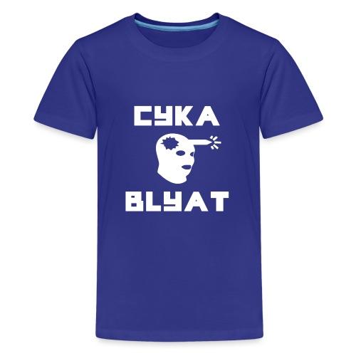 CYKA_BLYAT-png - Teenage Premium T-Shirt