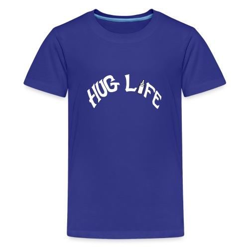 White Hug Life - Teenage Premium T-Shirt