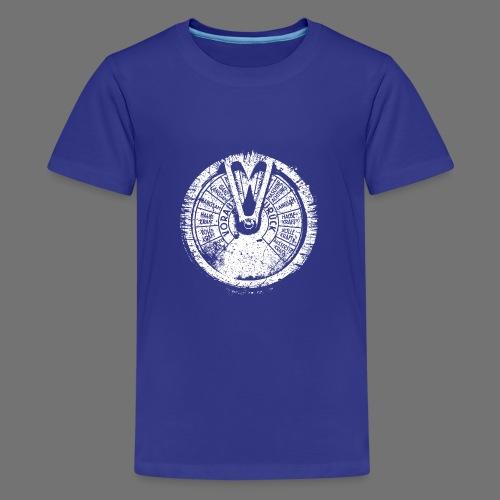 Maschinentelegraph (white oldstyle) - Teenage Premium T-Shirt