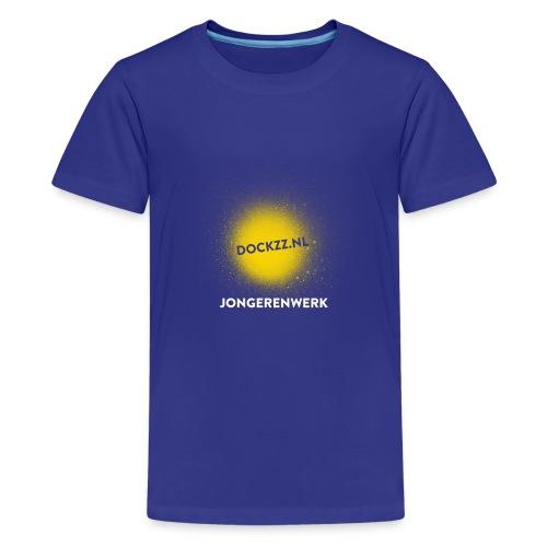 dockzz nl op gele verf jongerenwerk - Teenager Premium T-shirt