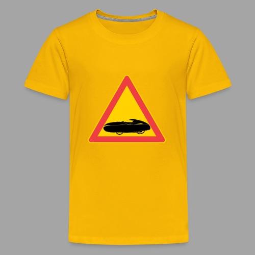 Traffic sign velomobile - Teinien premium t-paita