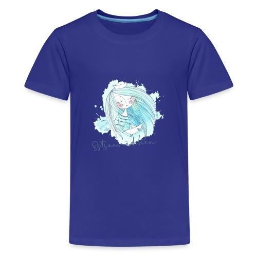 Ostseemädchen Papierboot - Teenager Premium T-Shirt