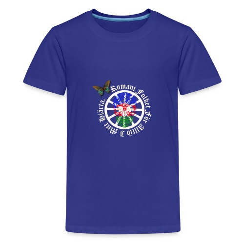 LennyhjulRomaniFolketivitfjerliskulle - Premium-T-shirt tonåring