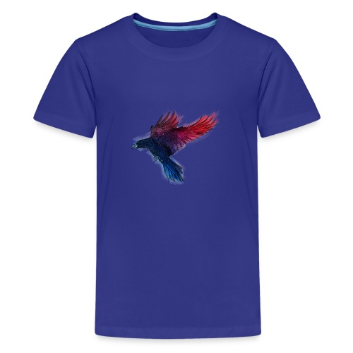 Watercolor Raven - Teenager Premium T-Shirt
