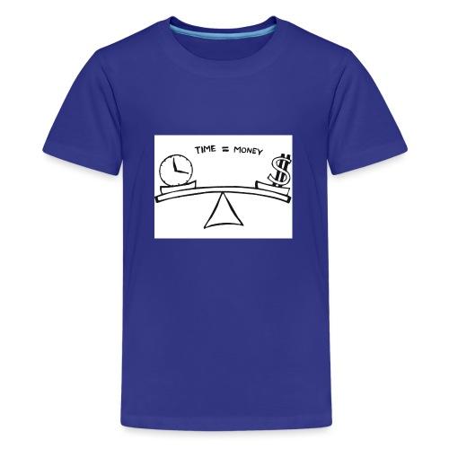Time=money - Teenage Premium T-Shirt