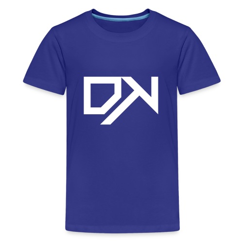 DewKee Logo Cap White - Teenage Premium T-Shirt