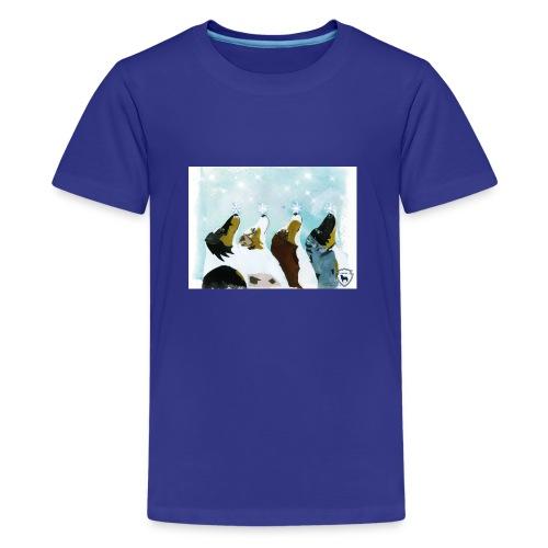 NMASK-trøye med kunsttrykk malt av Tanja Vean - Premium T-skjorte for tenåringer