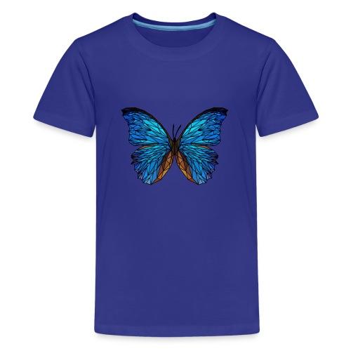 PAPILLON - LOW POLY (Outline) - T-shirt Premium Ado