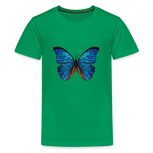 PAPILLON - LOW POLY (Outline) - T-shirt Premium Ado