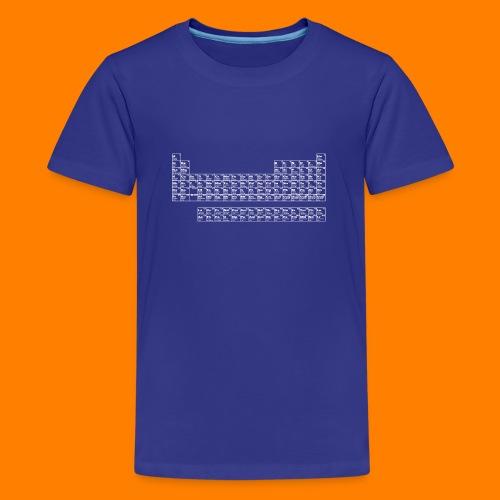 periodic white - Teenage Premium T-Shirt