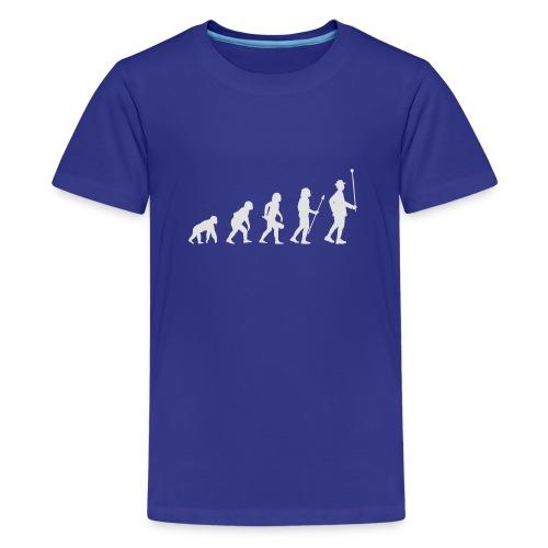 Evolution Stabführer weiß - Teenager Premium T-Shirt