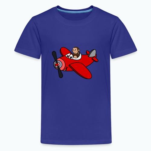 Monkey Moe - Appelsin - Premium-T-shirt tonåring