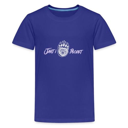 Huvtröja svart grön vit - Premium-T-shirt tonåring