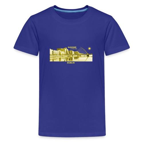 Summer Dublin City Irland Ireland Sommer Sonne - Teenager Premium T-Shirt