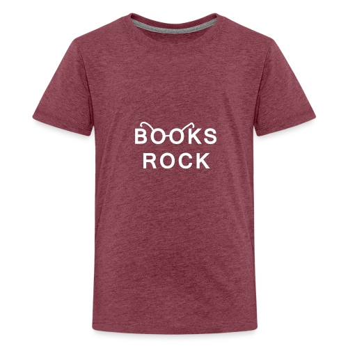 Books Rock White - Teenage Premium T-Shirt