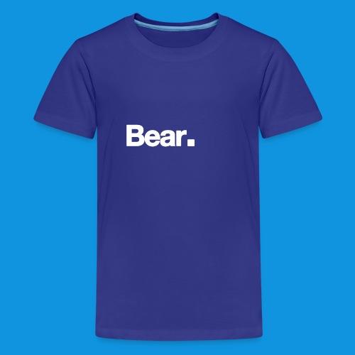 Bear. Retro Bag - Teenage Premium T-Shirt