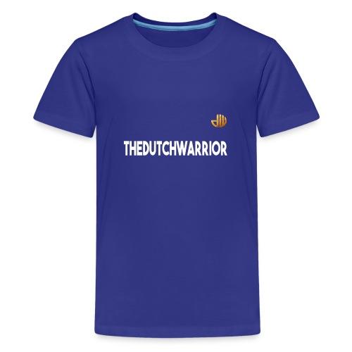 TheDutchWarrior_met_logo - Teenager Premium T-shirt