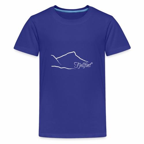 Fjellfint m/hvit logo - Premium T-skjorte for tenåringer