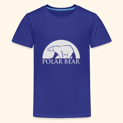 Polar Bear blanc - T-shirt Premium Ado