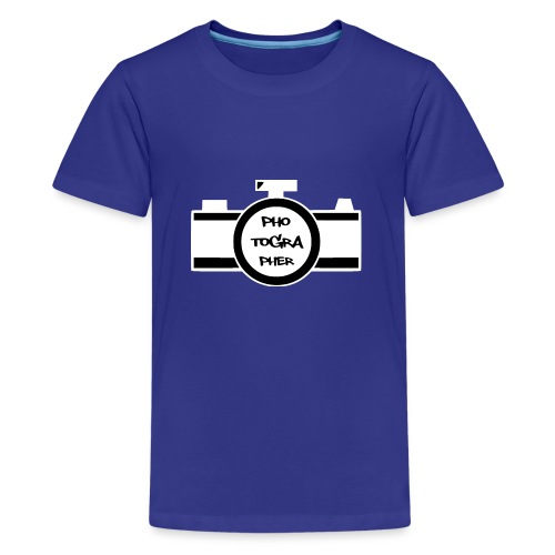 Photographer weiß - Teenager Premium T-Shirt