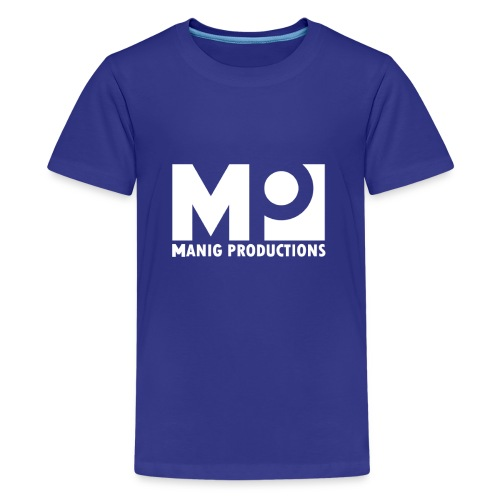 ManigProductions White Transparent png - Teenage Premium T-Shirt