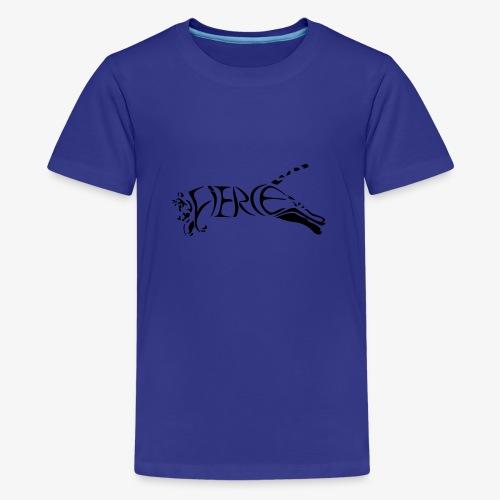 Fierce Leaping Tiger - Teenage Premium T-Shirt