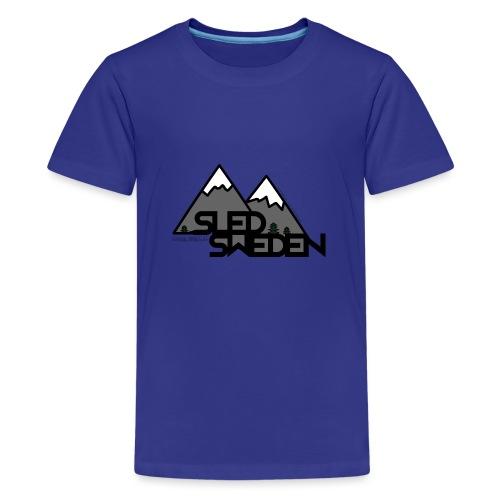 SledSweden Logo - Premium-T-shirt tonåring