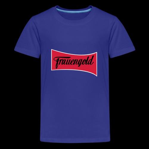 Frauengold 3col - Teenager Premium T-Shirt