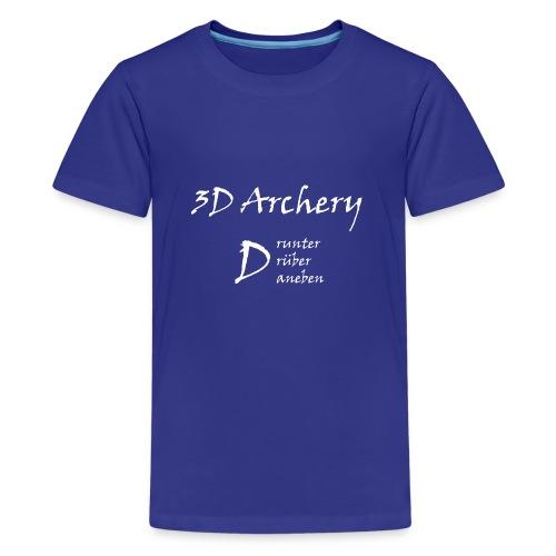 3D Archery white - Teenager Premium T-Shirt