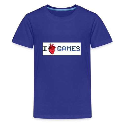 i_love_games-jpg - Maglietta Premium per ragazzi