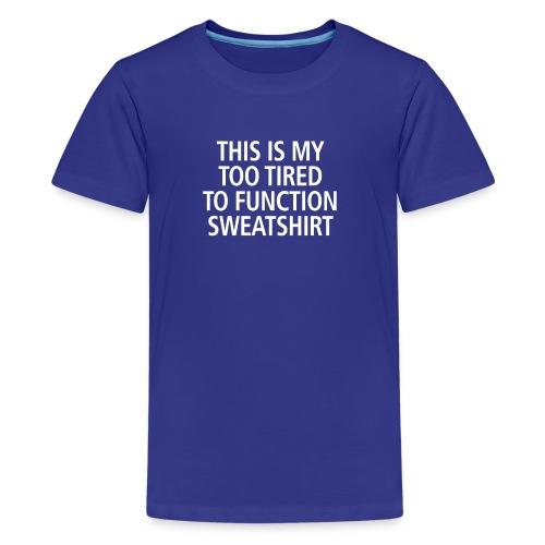 Sweatshirt white - Teenager Premium T-Shirt