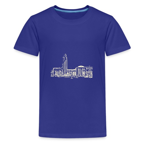 Helsinki railway station pattern trasparent beige - Teenage Premium T-Shirt