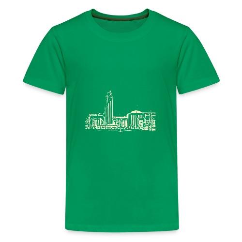 Helsinki railway station pattern trasparent beige - Teenage Premium T-Shirt